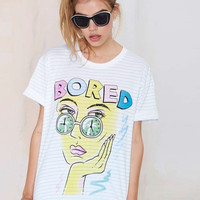 White Striped Bored T-shirt