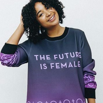 The Future is Female Neoprene Sweatshirt