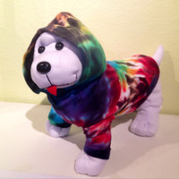 Tie Dye Dog Hoodie - Dog Clothes