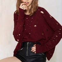 Nasty Gal Begging for Thread Knit Sweater