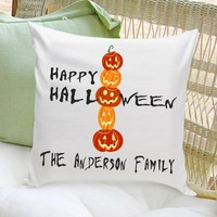 Personalized Halloween Throw Pillows - Pumpkins