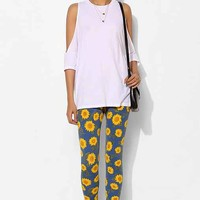 Truly Madly Deeply Sunflowers Legging- Blue Multi XS