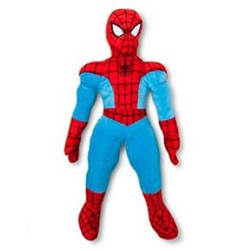 "Spiderman Novelty Pillow (11""x25"") Red&Blue - Spiderman®"