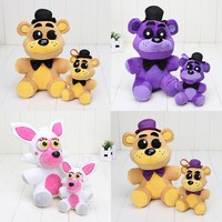25cm / 14cm Five Nights At Freddy Plush toys FNAF Golden Fazbear Nightmare Fredbear purple bear Mangle Plush Pendant Toy