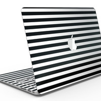 Slate Black Bold Hoizontal Lines - MacBook Air Skin Kit