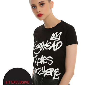 Riverdale Jughead Wuz Here Girls T-Shirt Hot Topic Exclusive
