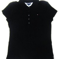 Tommy Hilfiger Womens Polo Shirt in Black