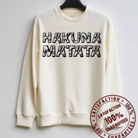 Hakuna Matata Shirt The Lion King Sweatshirt Sweater Hoodie Shirt – Size XS S M L XL