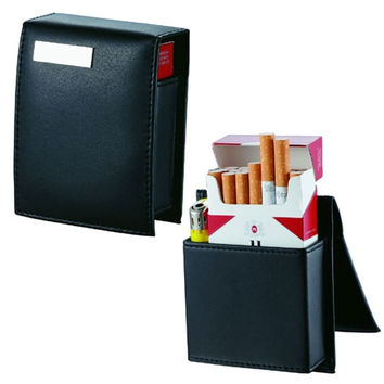 Visol Teresina Black Leather Cigarette Case