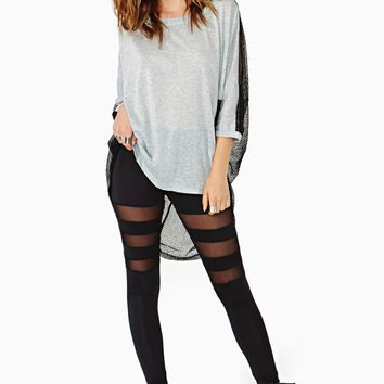 Black Mesh Cut Out Leggings from SHILOH | Things I want as gifts