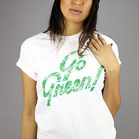 Forever Strung Go Green TeeWhite : Karmaloop.com - Global Concrete Culture