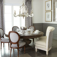 Massoud Bolin Banquette, Genevieve Side Chair, & Donabella Dining Table
