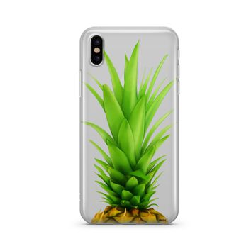 Pineapple Head - Clear TPU Case Cover