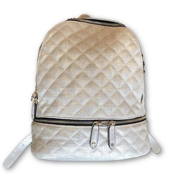 Quilted Gold Backpack