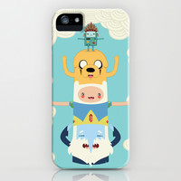 Adventure Totem | Adventure Time iPhone & iPod Case by Daniel Mackey