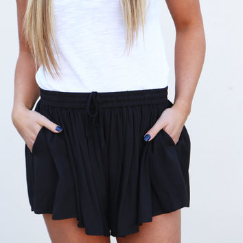 Go With The Flow Shorties By BB Dakota {Black}