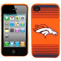 Denver Broncos Silicone iPhone 4 Case - Orange