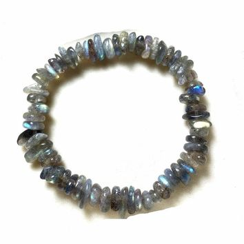 Gray Moonstone Crystal Bracelet Jewelry Girl Natural Stone Bracelet Wristband Charm Braclet For Female Accessories