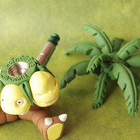 Exeggutor Pipe / MADE to ORDER / Pokemon / Polymer Clay Sculpture / Tobacco Hand Pipe