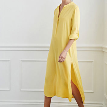 Longline Henley Shirt Dress