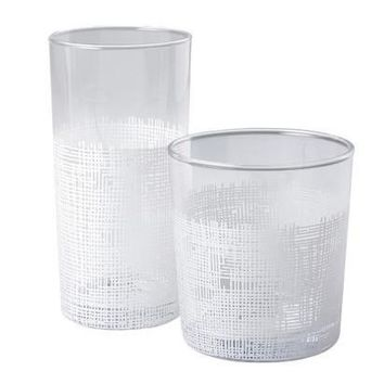 Crosshatch (White) Glasses