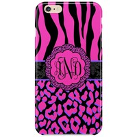 Animal Print Monogram Case 264