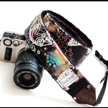 DSLR Camera Strap  Midnight bliss by sizzlestrapz on Etsy