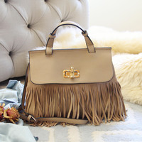 Honey Hush Fringe Tote