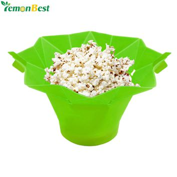 Collapsible Silicone Microwave Popper Bowl - Hot Air Popcorn Maker