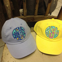 Custom Monogrammed Lilly Pulitzer Applique' Hats