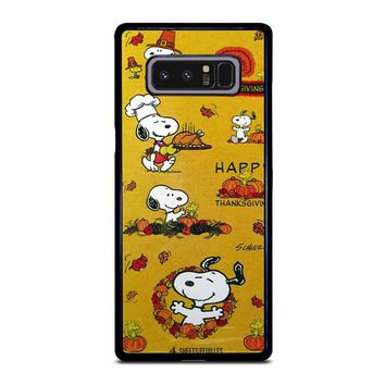 SNOOPY THE PEANUTS THANKSGIVING Samsung Galaxy Note 8 Case Cover
