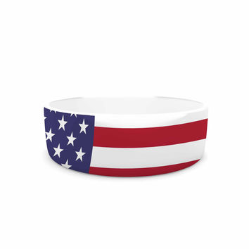 "Bruce Stanfield ""Flag of USA"" Contemporary Digital Pet Bowl"