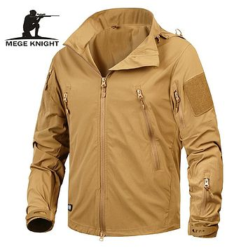 Mege Brand Clothing New Autumn Men's Jacket Coat Military Clothing Tactical Outwear US Army Breathable Nylon Light Windbreaker