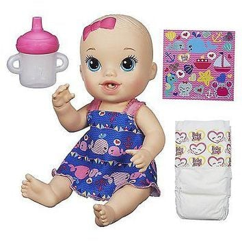 Baby Alive Sips 'n Cuddles Doll little whales dress (Blonde)