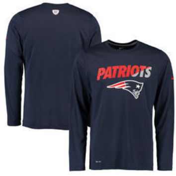 NFL New England Patriots Nike Mens Long Sleeve Dri Fit Shirt