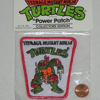 Vintage Teenage Mutant Ninja Turtles RAPHAEL PATCH from the 80's.