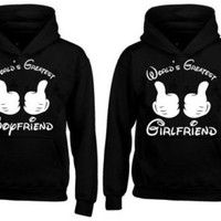 Couple Hoodie - World's Greatest Boyfriend & Girlfriend - Cute Couples Gifts, His and Hers Gifts, Valentines Day Gifts