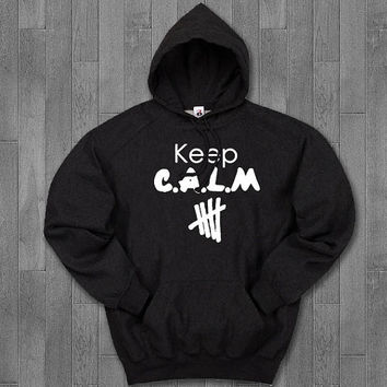 keep calm 5sos hoodie unisex adults.