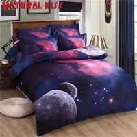 2016 Hot Star Galaxy bedding sets twin full queen size Universe Outer Space 4pc duvet cover set with bedsheet pillowcases