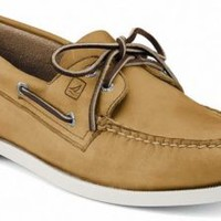 Sperry Top-Sider Authentic Original 2-Eye Boat Shoe Oatmeal, Size 6.5W  Men's Shoes