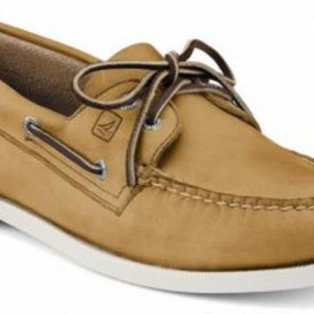 Sperry Top-Sider Authentic Original 2-Eye Boat Shoe Oatmeal, Size 6M  Men's Shoes