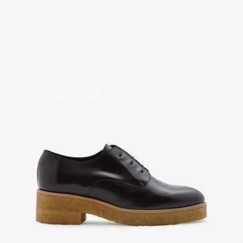 Crepe sole lace-up shoes