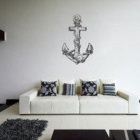 ik1267 Wall Decal Sticker anchor ship sea bedroom bathroom