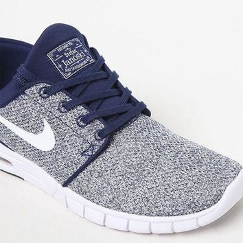 CREYONDI5 Nike SB Stefan Janoski Max Knit Blue and White Shoes