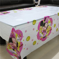 108cm*180cm lovely cartoon minnie mouse tablecloth party supplies tablecloth favor 1pcs lot kids girls birthday party decoration