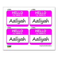 Aaliyah Hello My Name Is - Sheet of 4 Stickers
