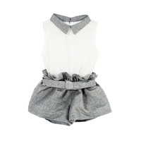 Baby Girls Sleeveless Doll Collar Vest+ Shorts Pants Kids Outfits Set 2 6Y 2Pcs-in Clothing Sets from Mother & Kids on Aliexpress.com | Alibaba Group