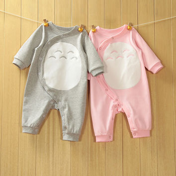 2017 High Quality Newborn Baby Romper Style Totoro Baby Spring Romper Soft Comfortable  Breathe Freely 100% Cotton Free Shipping