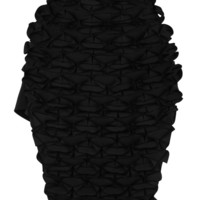 Black Japanese Canvas Butterfly Skirt by J.W. Anderson for Preorder on Moda Operandi