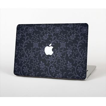 The Dark Black & Purple Delicate Pattern Skin Set for the Apple MacBook Pro 15""